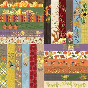 """Picture of All About Fall by Lauren Hinds 2"""" Border Strips: All About Fall - Set 12"""